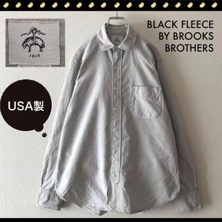 Brooks Brothers - USA製★ブルックスブラザーズ★ブラックフリース★ラウンドカラー OXシャツ