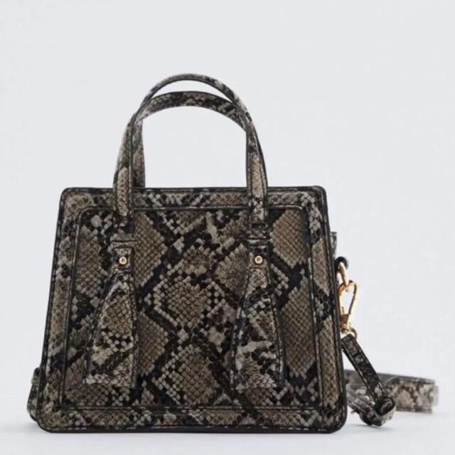 ZARA(ザラ)のZARA パイソン柄 ショルダー ハンドバッグ レディースのバッグ(ショルダーバッグ)の商品写真