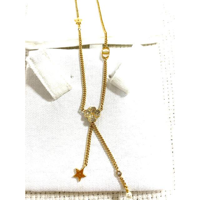Christian Dior(クリスチャンディオール)のDior D-CLOVER ネックレス ビジュー クローバーネックレス 新品 レディースのアクセサリー(ネックレス)の商品写真