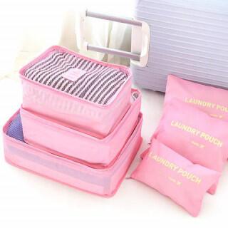 トラベルポーチ スーツケース 収納用品 バック ライトピンク バッグインバッグ(旅行用品)