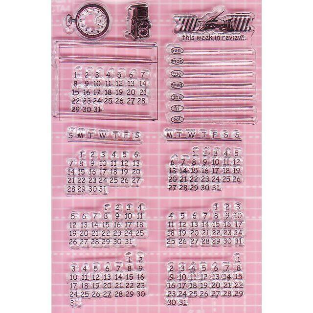 クリアスタンプ カレンダー① インテリア/住まい/日用品の文房具(印鑑/スタンプ/朱肉)の商品写真