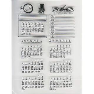 クリアスタンプ カレンダー①