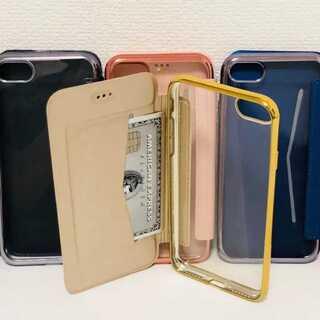 クリア?手帳型 シンプル 大人気 iPhone