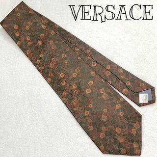 ジャンニヴェルサーチ(Gianni Versace)の美品 VERSACE 高級シルク アート 総柄 ネクタイ レトロ ヴィンテージ風(ネクタイ)