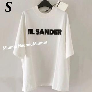 Jil Sander - JIL SANDER ロゴオーバーサイズTシャツ モックネック