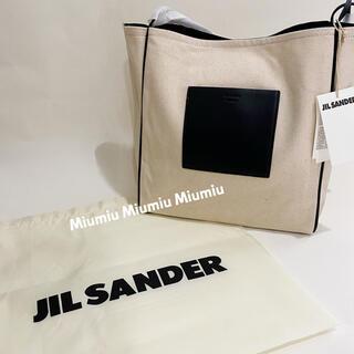Jil Sander - JIL SANDER(ジル サンダー)キャンバスレザー トートバッグ