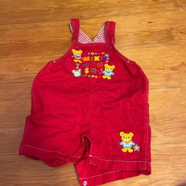 mikihouse(ミキハウス)のミキハウス サロペット キッズ/ベビー/マタニティのベビー服(~85cm)(ロンパース)の商品写真