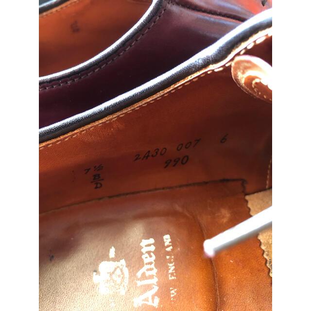 Alden(オールデン)のalden 990 7.5d 7 1/2 バーガンディ メンズの靴/シューズ(ドレス/ビジネス)の商品写真