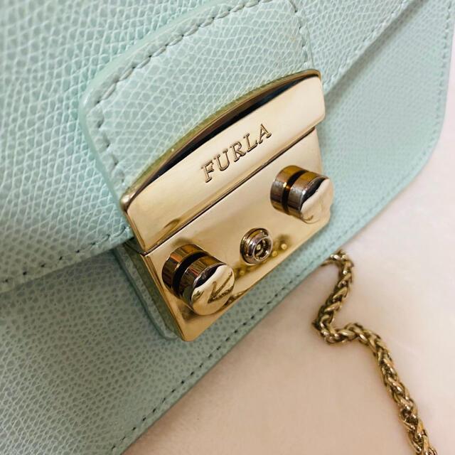 Furla(フルラ)の【限定カラー】FURLA メトロポリス ショルダーバッグ ミントグリーン レディースのバッグ(ショルダーバッグ)の商品写真
