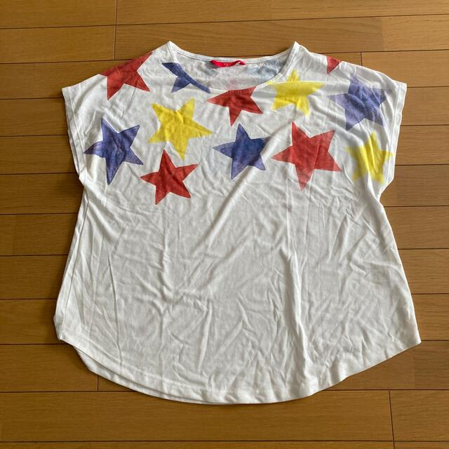 Graniph(グラニフ)のグラニフ 星柄Tシャツ Fサイズ     M51 レディースのトップス(Tシャツ(半袖/袖なし))の商品写真