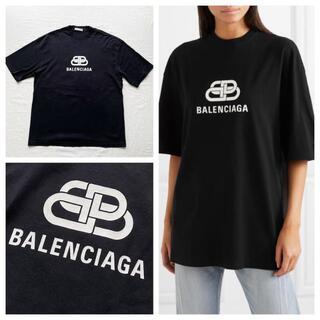Balenciaga - BALENCIAGA バレンシアガ オーバーサイズ ロゴTシャツ ブラック XS