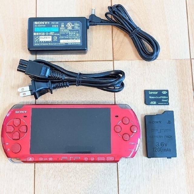 SONY(ソニー)のPSP3000   AC・メモステ8GB付 エンタメ/ホビーのゲームソフト/ゲーム機本体(携帯用ゲーム機本体)の商品写真