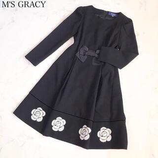 M'S GRACY - エムズグレイシー   カメリア柄ワンピース 38 美品