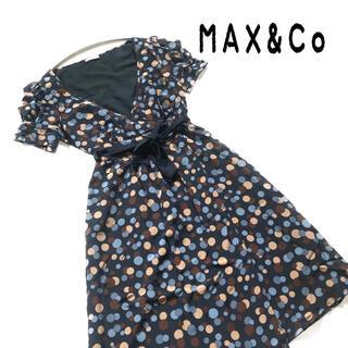 マックスアンドコー(Max & Co.)のマックスアンドコー ワンピース 膝丈 半袖 水玉 大きいサイズ(ひざ丈ワンピース)