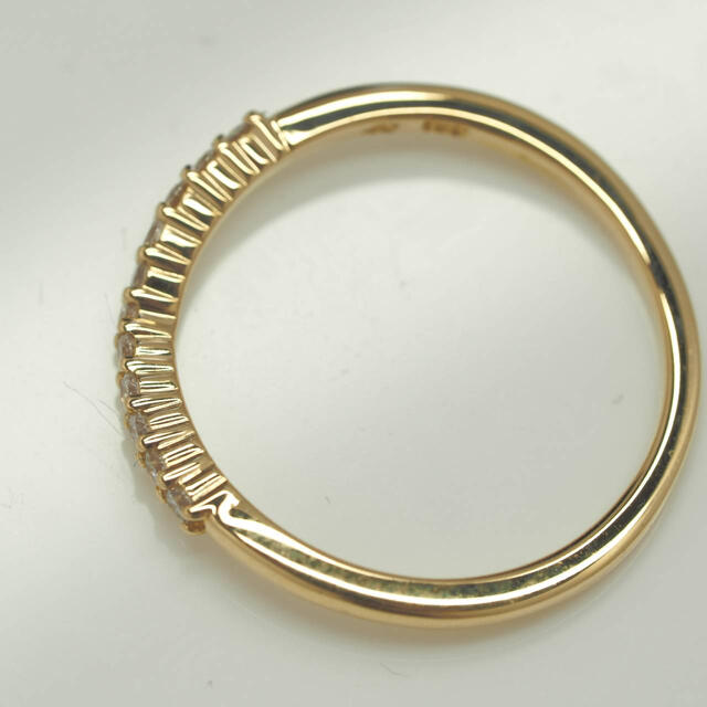 4℃(ヨンドシー)のil5 4℃☆ヨンドシーK18YG天然ダイヤモンドV字リング レディースのアクセサリー(リング(指輪))の商品写真