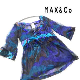 マックスアンドコー(Max & Co.)のマックスアンドコー ブラウス シャツ シースルー 大きいサイズ(シャツ/ブラウス(長袖/七分))