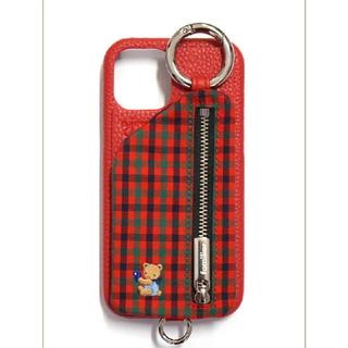 ファミリア(familiar)の★新品未開封★ajew×familiar iPhoneケース(RED)(iPhoneケース)