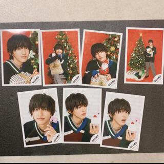 ジャニーズJr. - なにわ男子 道枝駿佑 公式写真 グリーティングフォト クリスマス