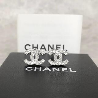 CHANEL - 正規品 シャネル イヤリング シルバー ココマーク ラインストーン 銀 ロゴ 4