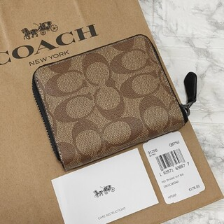 COACH - 人気!!COACH コーチ ラウンドジップ 二つ折り 財布 メンズ シグネチャー