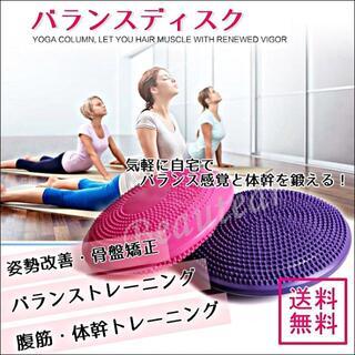 バランスディスク 体幹 トレーニング ストレッチ エクササイズ 運動 手軽(エクササイズ用品)