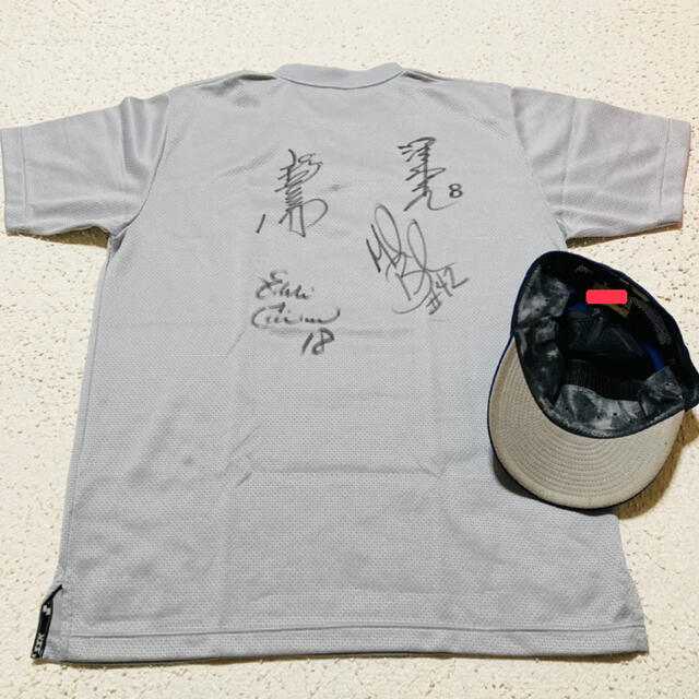 中日 ドラゴンズ 福留 波留 ギャラード バンチ サイン ウェア ユニフォーム スポーツ/アウトドアの野球(ウェア)の商品写真
