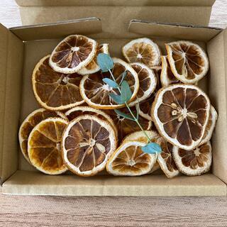 箱いっぱいのドライオレンジとレモン(ドライフラワー)