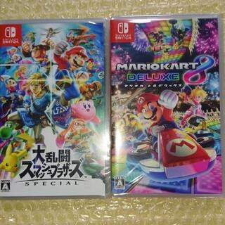 ニンテンドースイッチ(Nintendo Switch)の大乱闘スマッシュブラザーズ マリオカート8デラックス  switch ソフト(家庭用ゲームソフト)