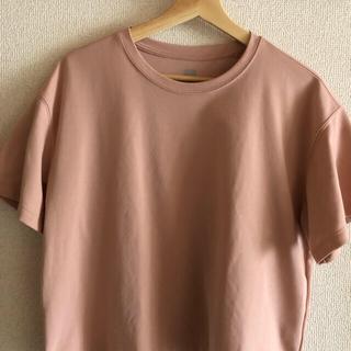 UNIQLO - ユニクロ UNIQLOドライEXクロップドT コットンライク 半袖 ピンク