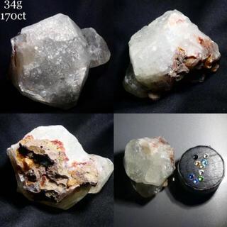 34g アポフィライト原石 天然石 原石 標本 未研磨 3316