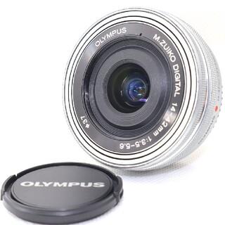 オリンパス(OLYMPUS)の【新品級】OLYMPUS M.ZUIKO 14-42mm パンケーキレンズ(レンズ(ズーム))
