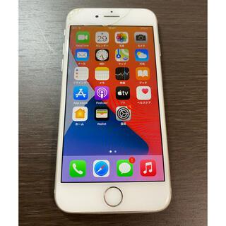 アイフォーン(iPhone)の割れあり simフリー iPhone8 64GB シルバー ジャンク品(スマートフォン本体)