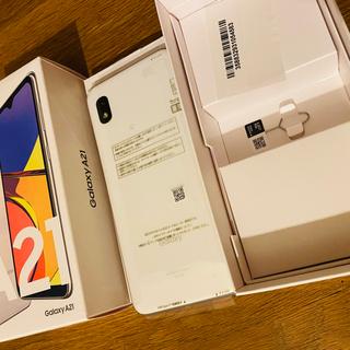 Galaxy - ★ 新品!! GALAXY A21 ホワイト SIM解除済