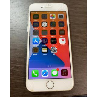 アイフォーン(iPhone)の表面割れあり simフリー iPhone8 64GB シルバー ジャンク品(スマートフォン本体)