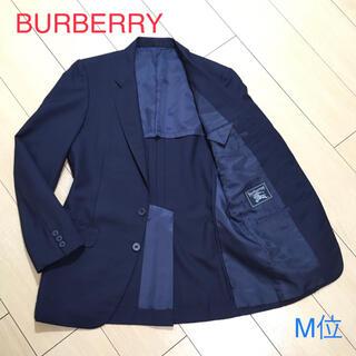 バーバリー(BURBERRY)のバーバリー  サマーウール 極上ネイビージャケット 背抜き 春夏 紺 A318(テーラードジャケット)