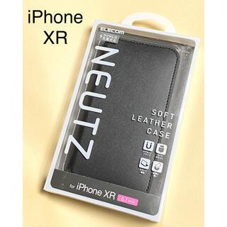 ELECOM - iPhone XR ケース ソフトレザー マグネット付き スタンド機能 ブラック