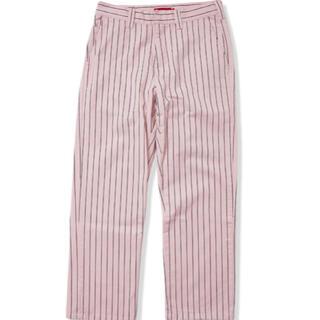 Supreme - Supreme Work Pant Light Pink Stripe