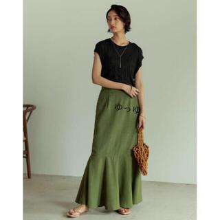 ZARA - リエディ リネンタッチマキシマーメイドスカート グリーン L  今期完売品