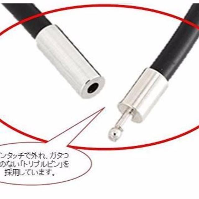 編み込み レザー ネックレス ブラック ワンタッチ メンズ ヨーロピアン チョー メンズのアクセサリー(ブレスレット)の商品写真
