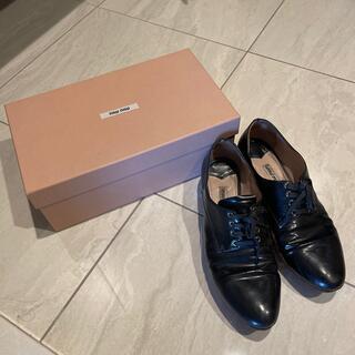 ミュウミュウ(miumiu)のmiumiu オックスフォード(ローファー/革靴)