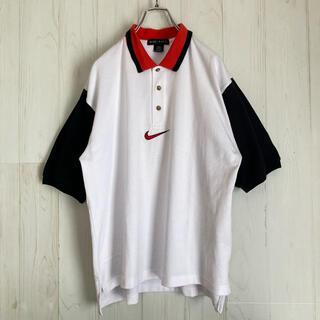 ナイキ(NIKE)のNIKE GOLF ナイキゴルフ ポロシャツ センター刺繍スウッシュ 古着(ポロシャツ)