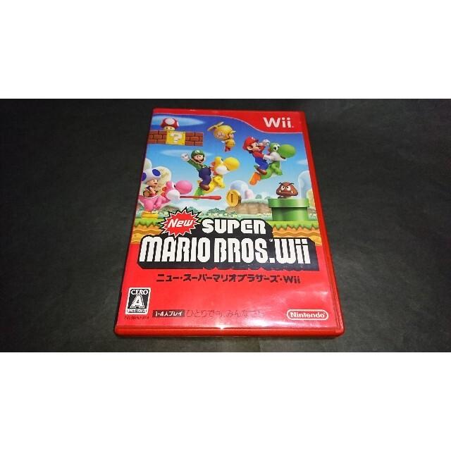 Wii(ウィー)のWii NewスーパーマリオブラザーズWii / 説明書無し エンタメ/ホビーのゲームソフト/ゲーム機本体(家庭用ゲームソフト)の商品写真