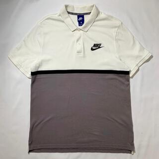 ナイキ(NIKE)の美品 NIKE ナイキ 半袖ポロシャツ バイカラー 人気 ワンポイントロゴ(ポロシャツ)