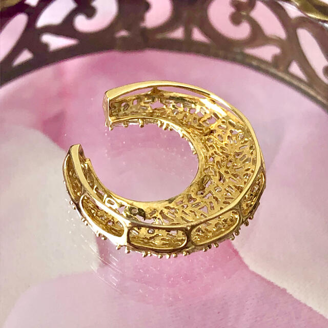 【K18】蹄パヴェダイヤオメガネックレス  レディースのアクセサリー(ネックレス)の商品写真