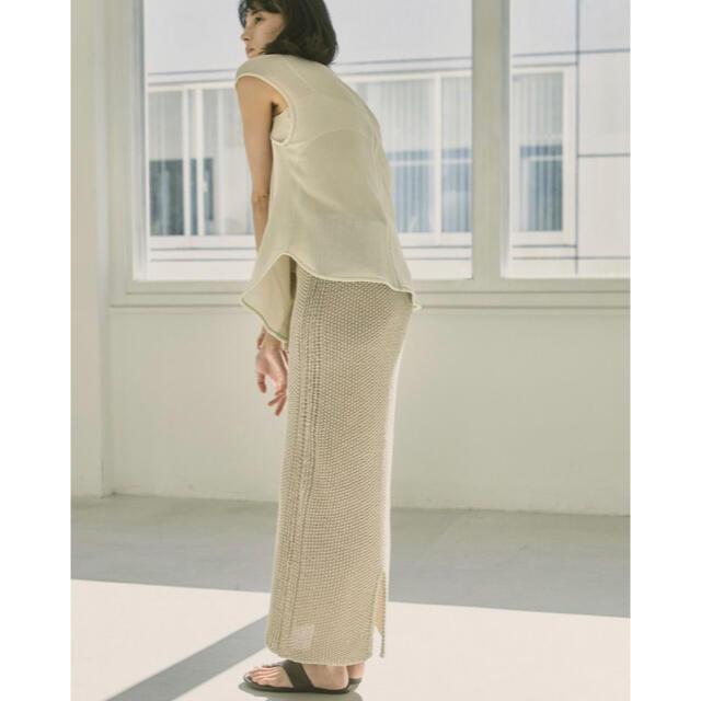 TODAYFUL(トゥデイフル)のTODAYFLUトゥデイフル Line Knit Skirt レディースのスカート(ロングスカート)の商品写真