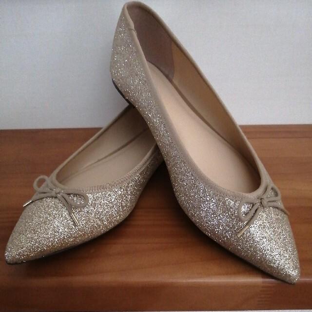 GU(ジーユー)のguグリッターパンプス★未使用 レディースの靴/シューズ(バレエシューズ)の商品写真