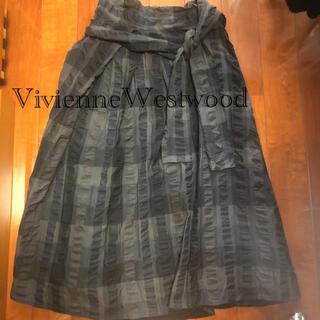 ヴィヴィアンウエストウッド(Vivienne Westwood)のヴィヴィアンウエストウッド  チェックロングスカート(ロングスカート)