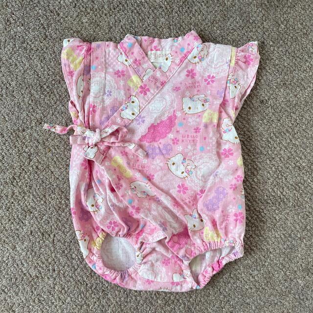 ハローキティ(ハローキティ)のハローキティ ロンパース 甚平 70 キッズ/ベビー/マタニティのベビー服(~85cm)(ロンパース)の商品写真