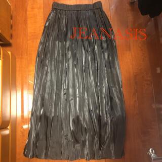 JEANASIS - JEANASIS シャイニーケシプリーツスカート ロングスカート