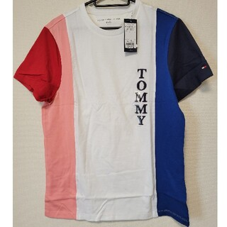 TOMMY HILFIGER - TOMMY トミーヒルフィガー tシャツ Tシャツ ロゴ ストライプ